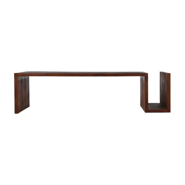 Minimal Coffee Table with Magazine Rack