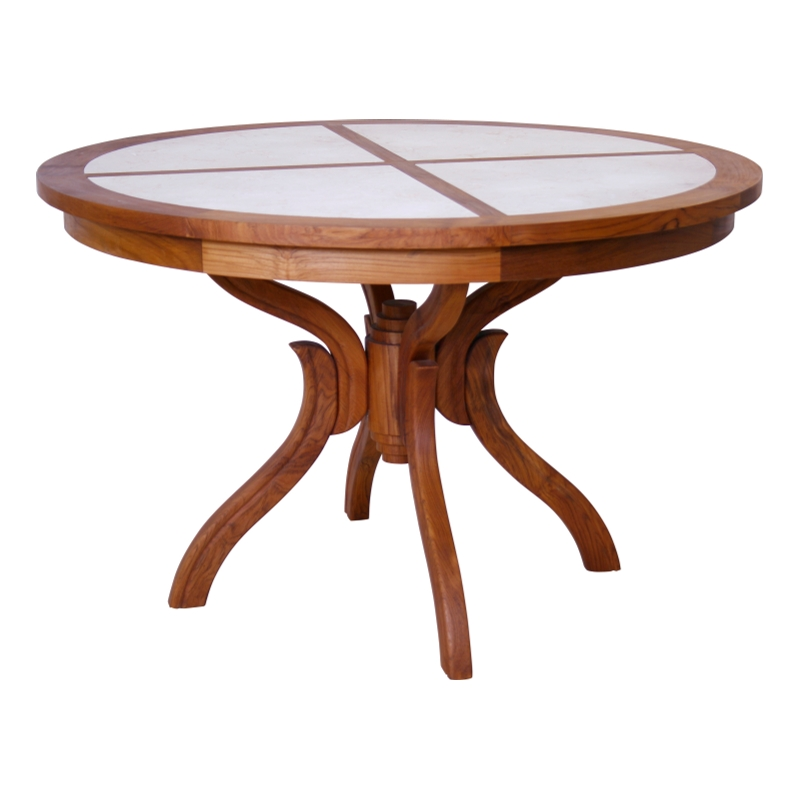 Mahe Dining Table-1, With Stone Top
