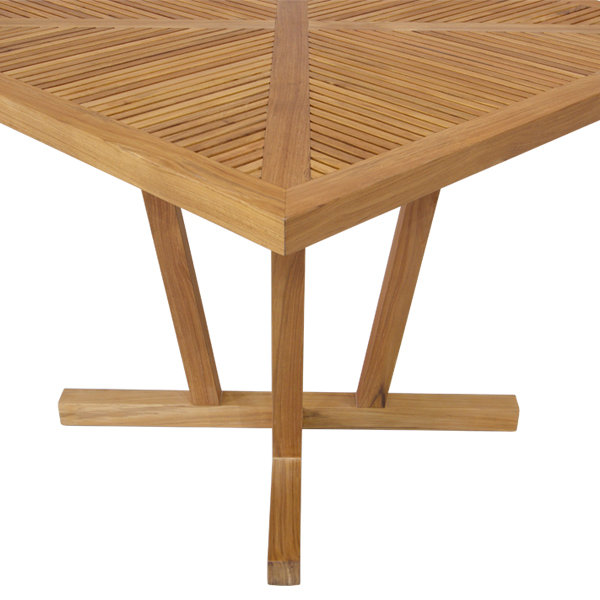 Korogated Outdoor Square Dining Table