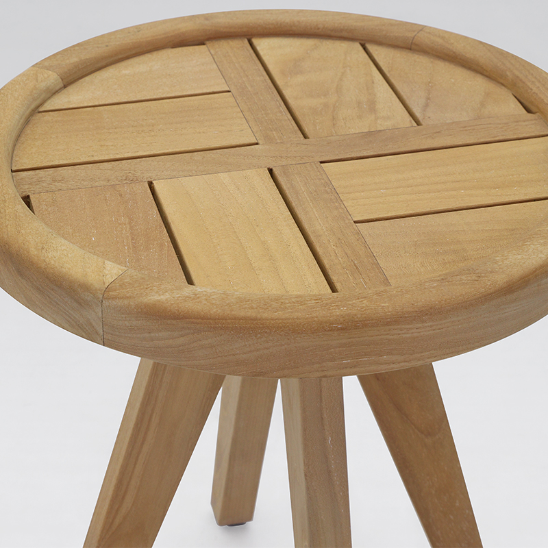 Sena Outdoor Side Table Round With Slat Top