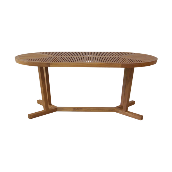 Korogated Outdoor Oval Dining Table