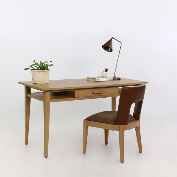 Basic Desk W/MID Drawer & 2 Shelves