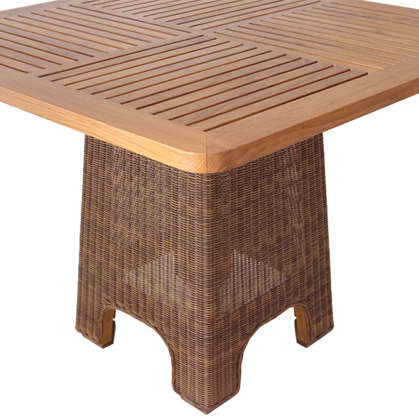 Teabu Outdoor Square Dining Table Outdoor Furnishings
