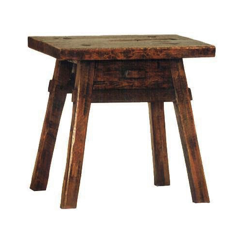 Primitive Side Table - With drawer