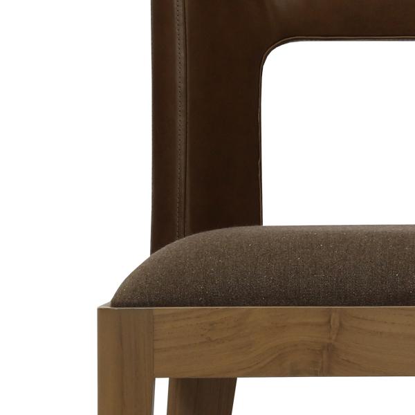 Teabu Leather Back Chair