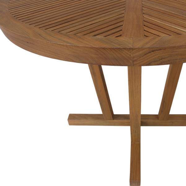 Korogated Outdoor Round Dining Table