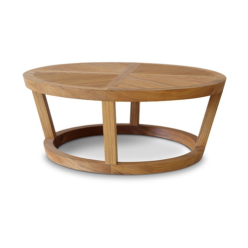 Korogated Outdoor Round Coffee Table