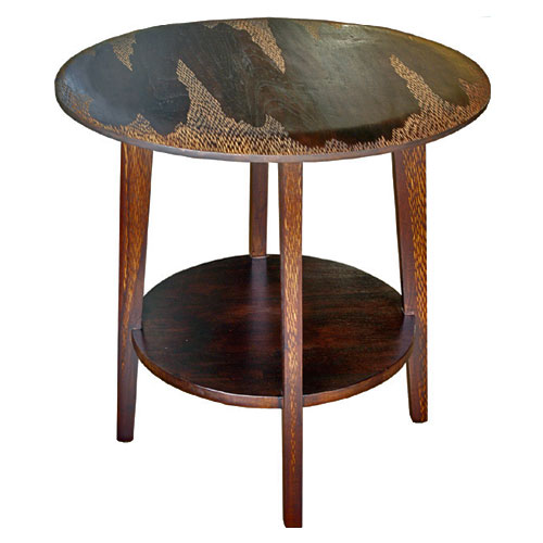 Tiger Round Side Table