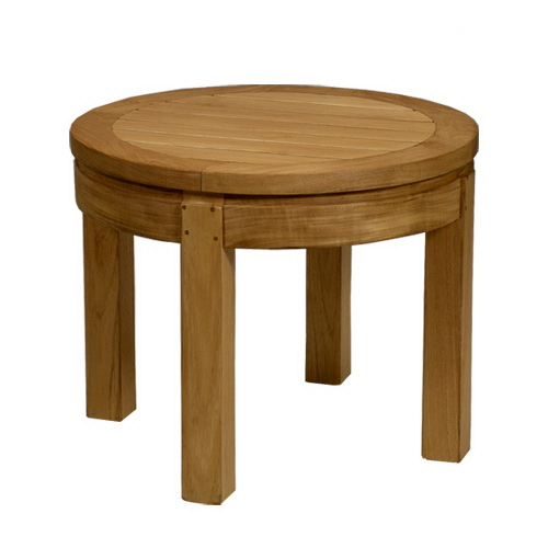 Bevel Outdoor Round Side Table
